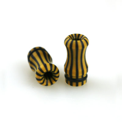 Calipso - 510er Mundstück für E-Zigaretten Verdampfer von Officine Svapo Farbe: senf schwarz und gestreift