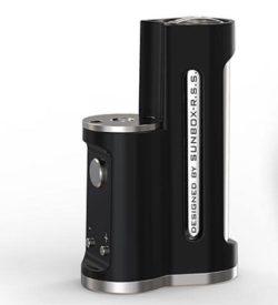 Easy Sidebox Mod von Ambition Mods Designed by Sunbox-R.S.S. - E-Zigaretten Akkuträger für einen 18650er Li-Ion Akku, Farbe schwarz