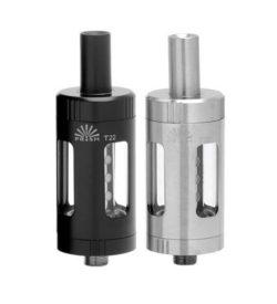 Prism T22 von Innokin - E-Zigaretten Verdampfer mit 4ml Tankvolumen und 510er Adapter, Farbe: schwarz silber