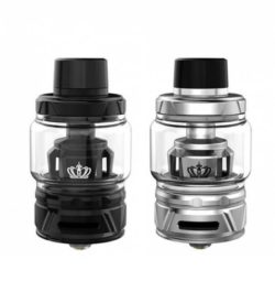 Crown 4 von Uwell - E-Zigaretten Verdampfer mit Topfill-Funktion 510er Drip-Tip, Farbe: schwarz und silber